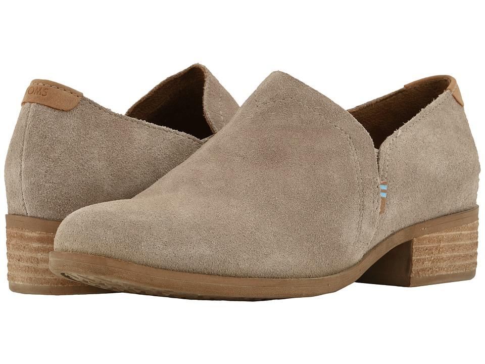 TOMS Shaye (Desert Taupe Suede) Slip-On Shoes