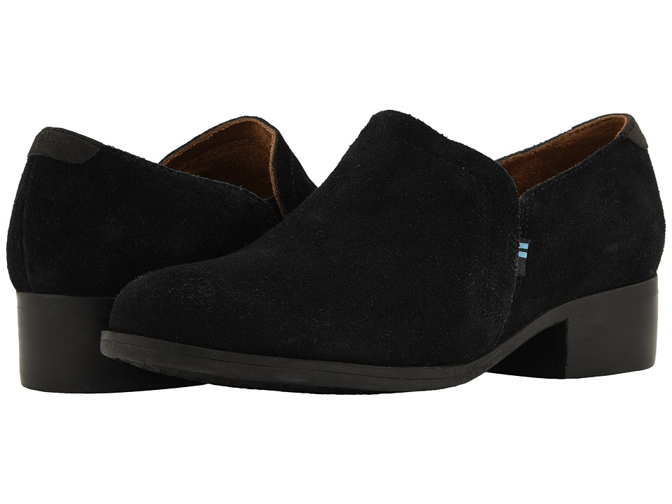 TOMS Shaye (Black Suede) Slip-On Shoes