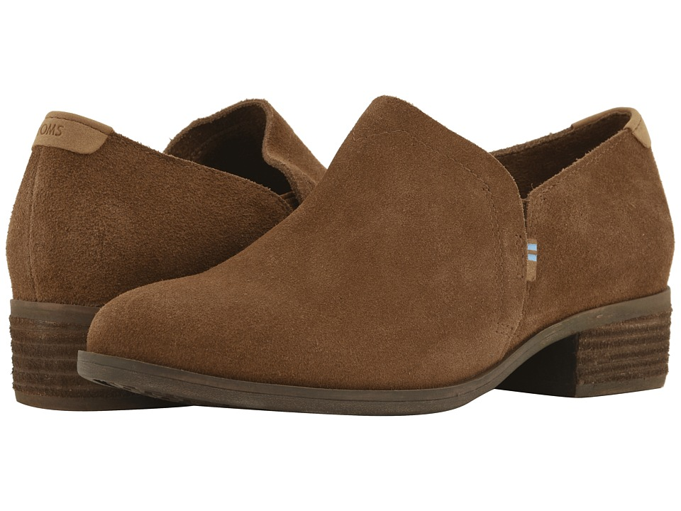 TOMS Shaye (Dark Amber Suede) Slip-On Shoes