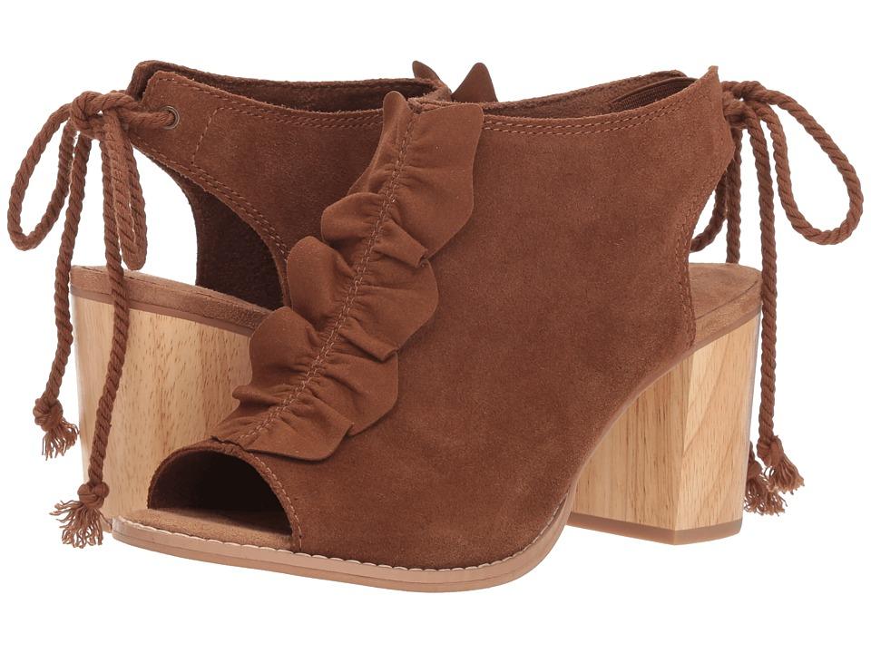 TOMS Elba (Dark Amber Suede/Ruffle) High Heels