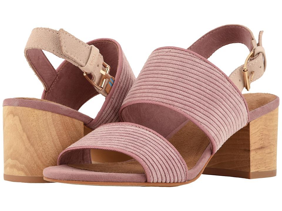 TOMS Poppy (Light Mauve Corduroy) Sandals