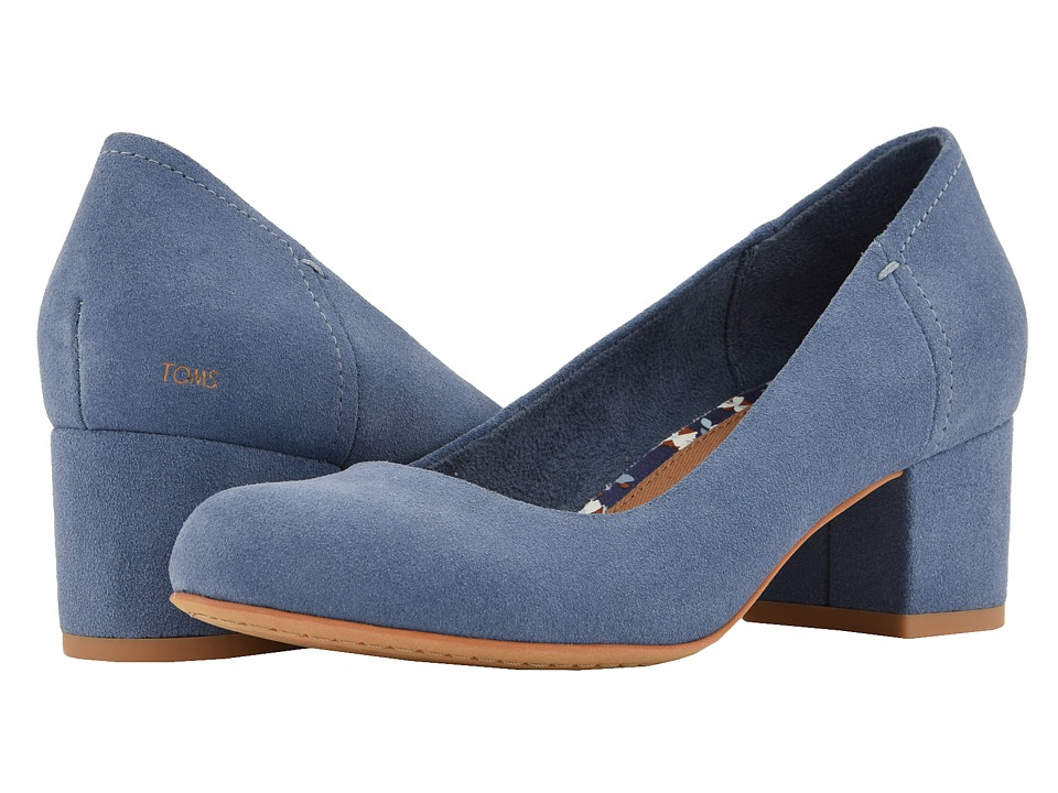 TOMS Beverly (Infiinity Blue Suede) 1-2 inch heel Shoes