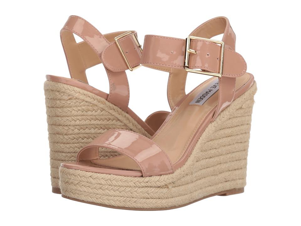 Steve Madden Santorini Espadrille Wedge Sandal (Dark Blush Patent) Women's Shoes