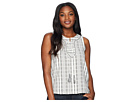 TWO by Vince Camuto Sleeveless Lace-Up Jacquard Stripe Blouse