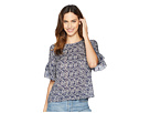 TWO by Vince Camuto Tiered Ruffle Sleeve Bud Whirlwind Blouse