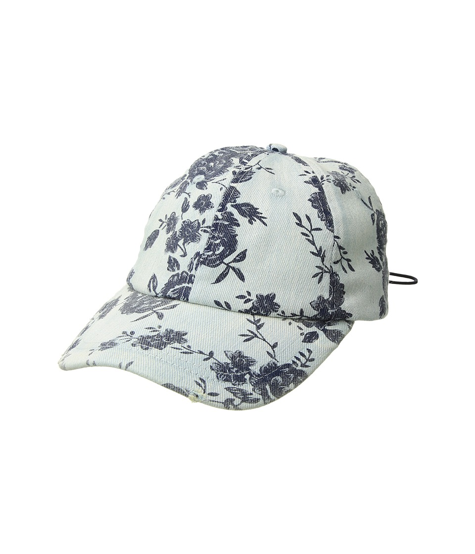 BCBGeneration - Corset Floral Baseball Hat (Denim) Caps
