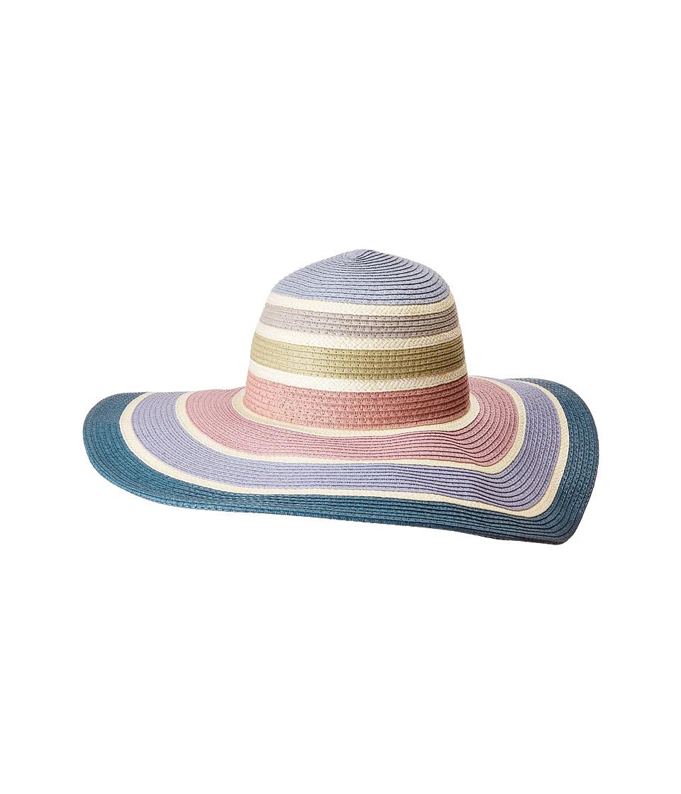 BCBGeneration - Rainbow Floppy Hat (Pastel Multi) Caps