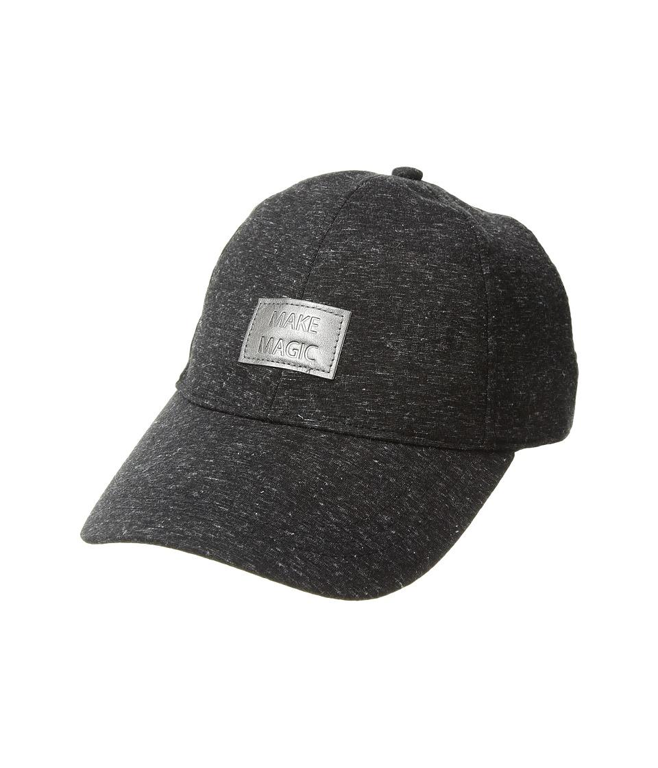 BCBGeneration - Embossed Heather Baseball Hat (Black) Caps