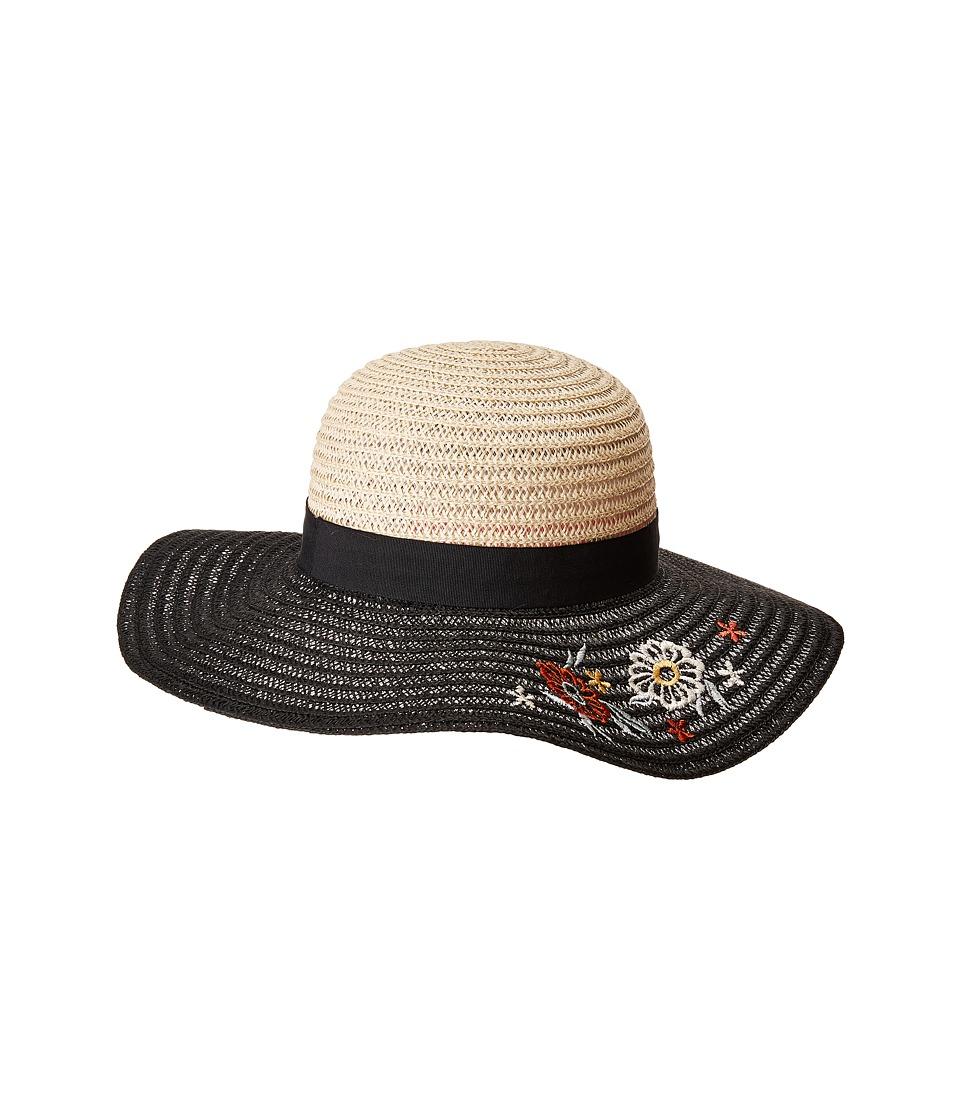 BCBGeneration - Flower Floppy Hat (Black) Caps