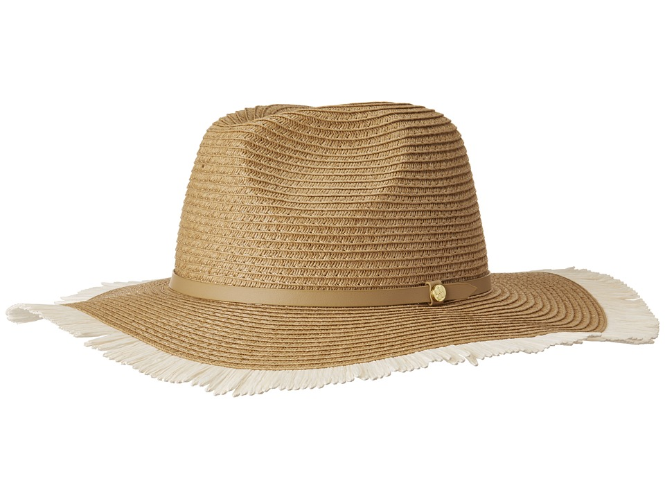 BCBGMAXAZRIA - Frayed Panama Hat (Natural) Caps