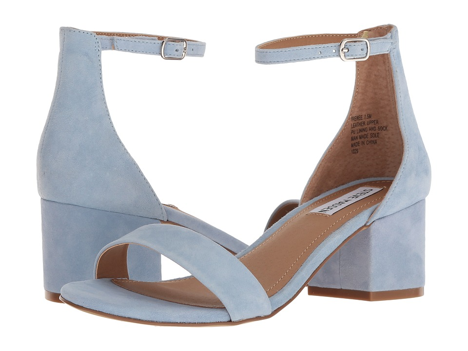 Steve Madden Irenee Sandal (Blue Suede) 1-2 inch heel Shoes