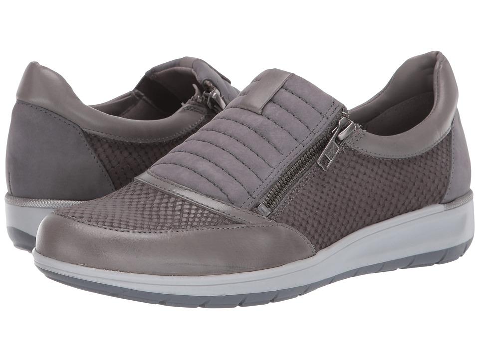 Walking Cradles Orion (Slate Grey Matte Snake Print/Nubuck/Leather) Slip-On Shoes