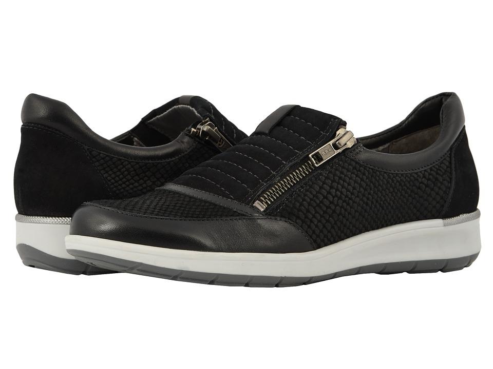Walking Cradles Orion (Black Matte Snake Print/Nubuck/Leather) Slip-On Shoes