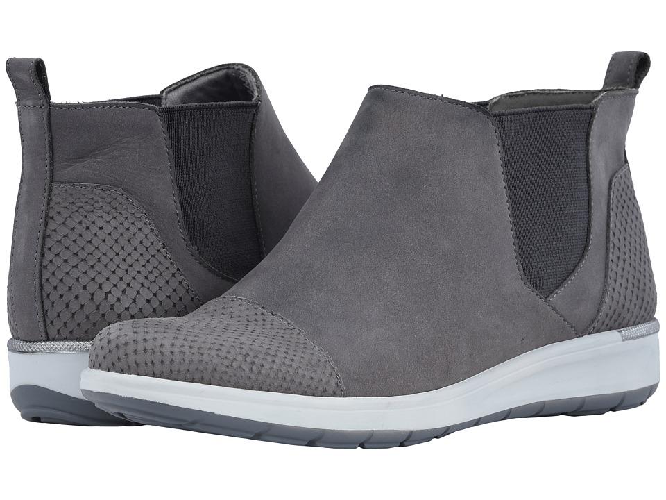 Walking Cradles Osmond (Slate Grey Matte Snake Print/Nubuck) Women's Pull-on Boots