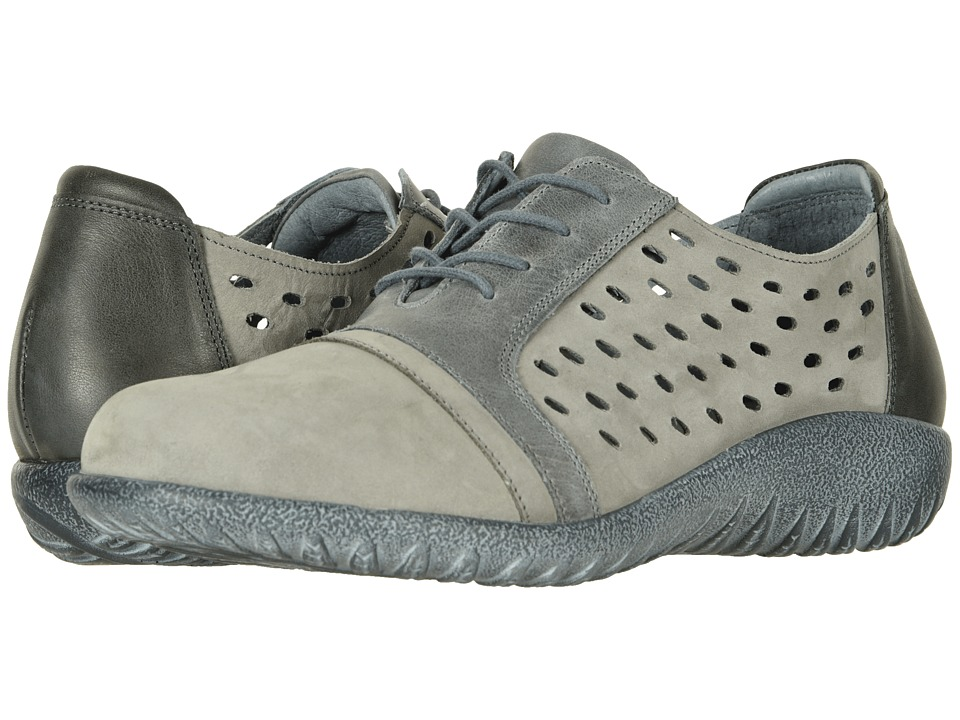 Naot Lalo (Soft Gray Nubuck/Vintage Slate Leather Combo) Women's Shoes