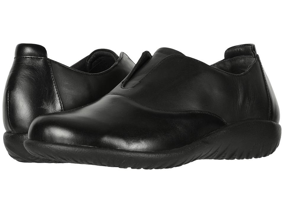 Naot Karo (Black Madras Leather/Jet Black Leather) Women's Shoes
