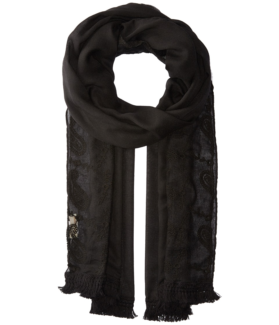 Collection XIIX - Paisley Lace Wrap (Black) Scarves