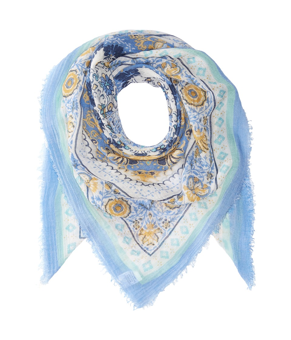 Collection XIIX - Batik Medallion Square (Chambray) Scarves