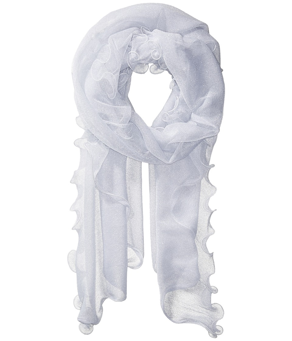 Collection XIIX - Sheer Knit Evening Wrap (White) Scarves