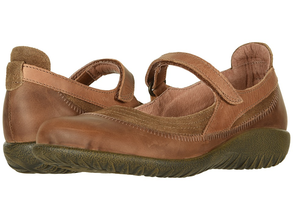 Naot Kirei (Antique Brown Suede Combo) Maryjanes