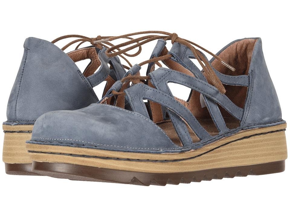 Naot Calathea (Feathery Blue Nubuck) Women's Shoes