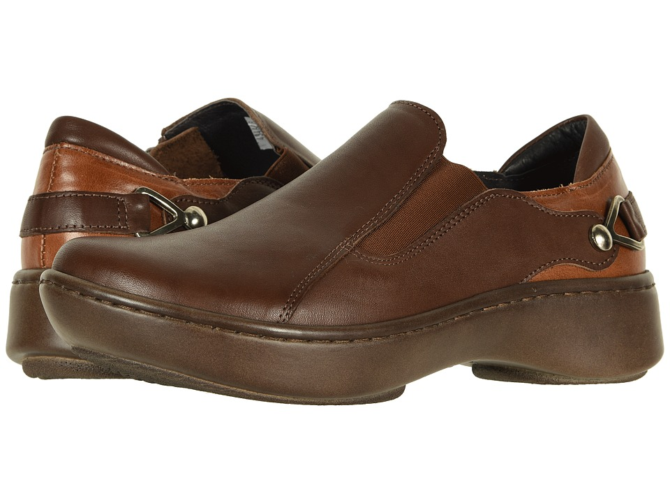 Naot Nautilus (Toffee Brown Leather Combo) Slip-On Shoes