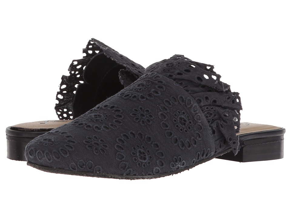 Free People Eyelet Sienna Slip-On (Black) Women's Shoes