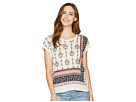 TWO by Vince Camuto Tile Wallflower Printed Dolman Top