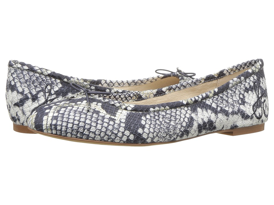 Sam Edelman Felicia (Grey Matte Diamante Snake Leather) Flats