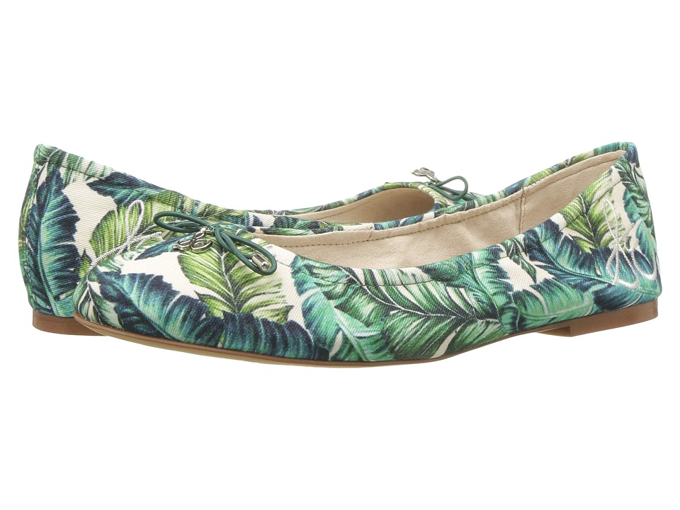 Sam Edelman Felicia (Jade Multi Wallpaper Palm Print) Flats