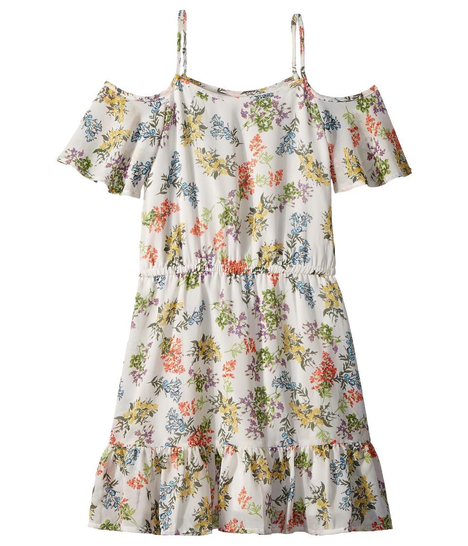 Ella Moss Girl - Floral Print Chiffon Dress (Big Kids) (Full Sail/Floral) Girls Dress
