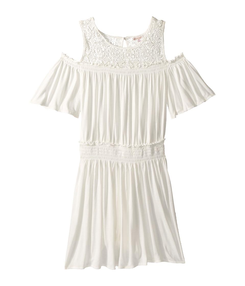 Ella Moss Girl - Cold Shoulder Dress (Big Kids) (Full Sail) Girls Dress
