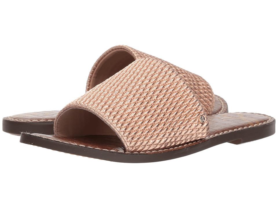Sam Edelman - Gio 2 (Blush Gold Smocked Metallic) Womens Sandals