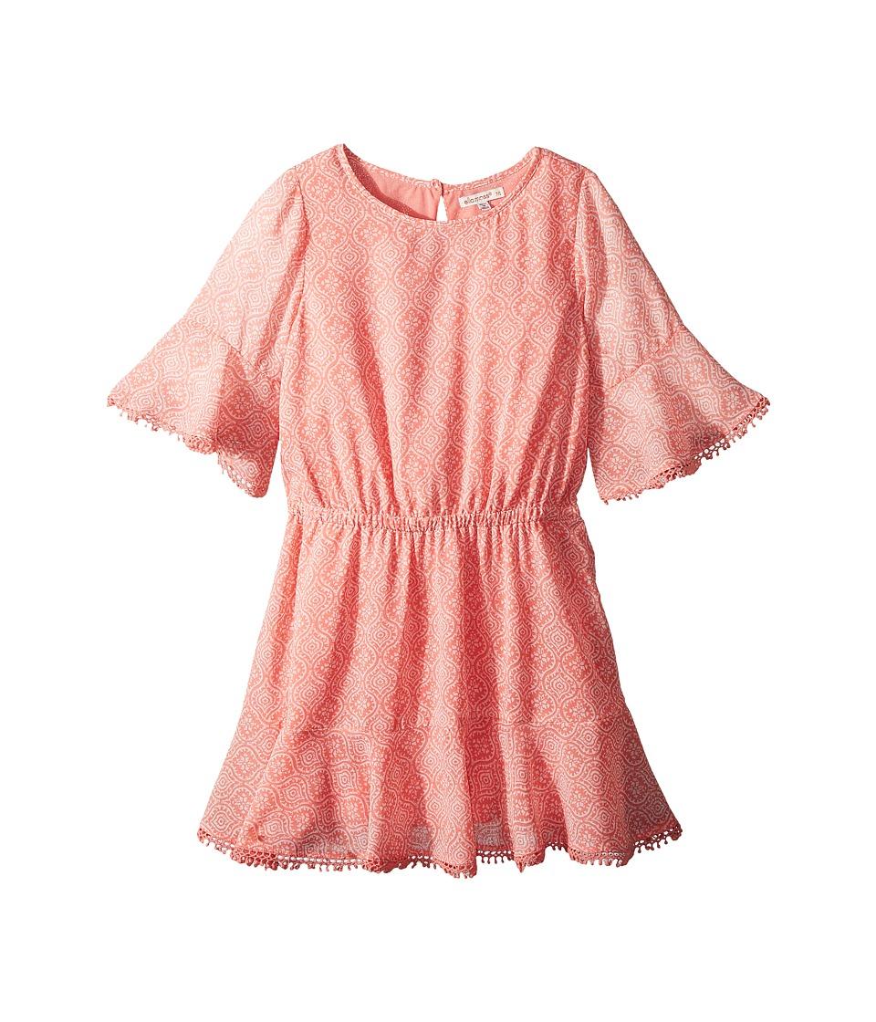 Ella Moss Girl - Flounce Chiffon Dress (Big Kids) (Float) Girls Dress