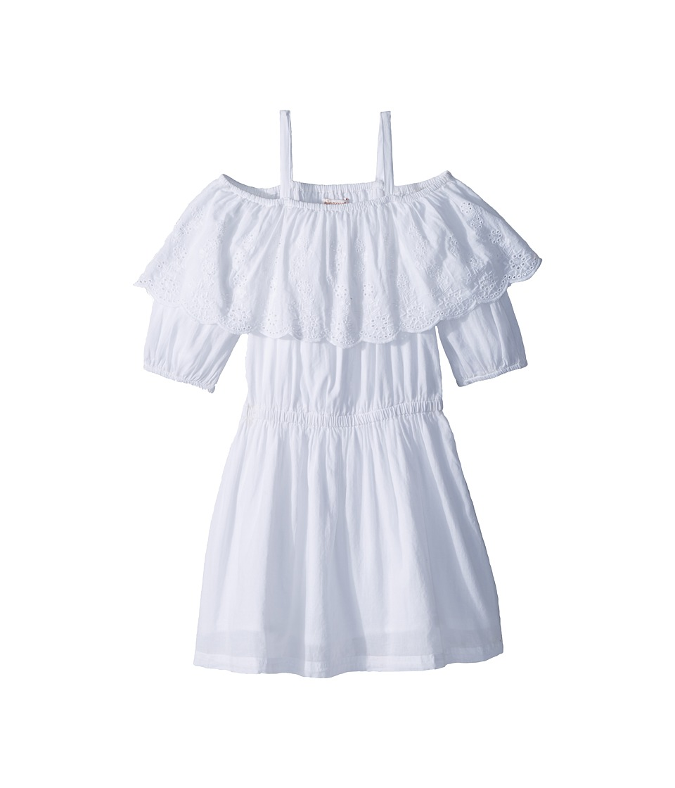 Ella Moss Girl - Off-The-Shoulder Peasant Dress (Big Kids) (White) Girls Dress