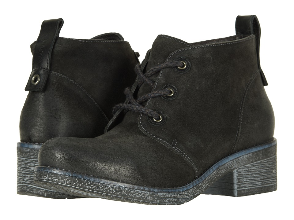Naot Love (Oily Midnight Suede/Black Raven Leather)