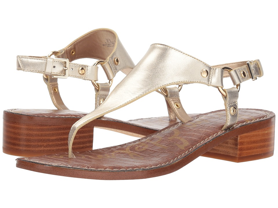 Sam Edelman Jude (Molten Gold Foiled Polished Metallic Leather) Sandals