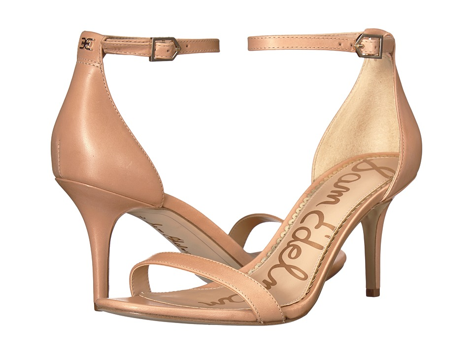 Sam Edelman Patti Strappy Sandal Heel (Buff Nude Vaquero Saddle Leather) High Heels