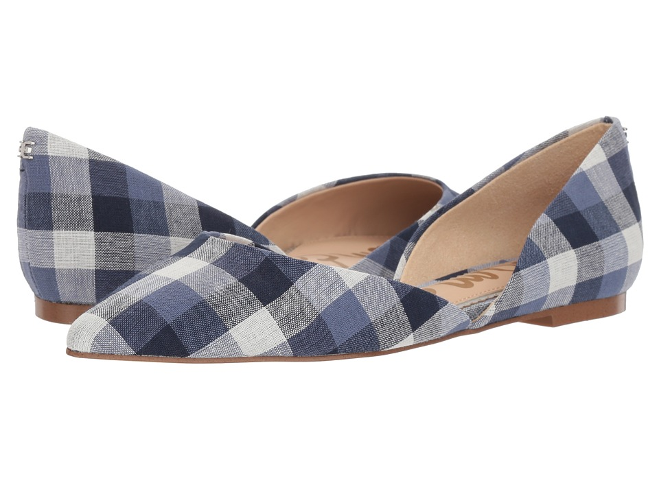 Sam Edelman - Rodney (Navy Multi Linen Gingham) Womens Shoes