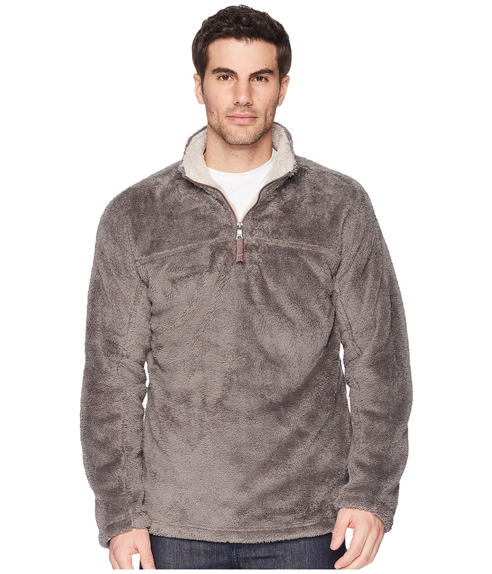 True Grit - Double Plush 1/4 Zip Pullover (Charcoal) Mens Clothing