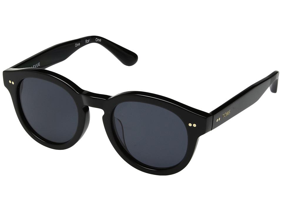 TOMS - Bellevue (Shiny Black) Fashion Sunglasses