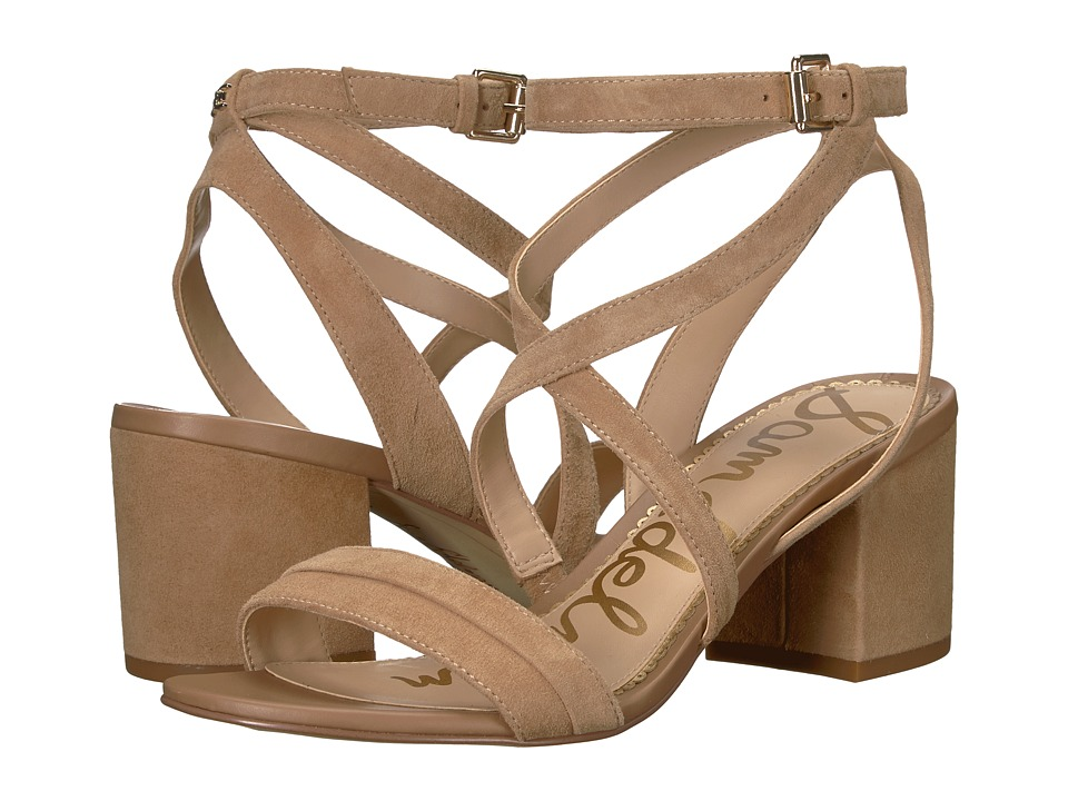 Sam Edelman Sammy (Golden Caramel Kid Suede Leather) Sandals