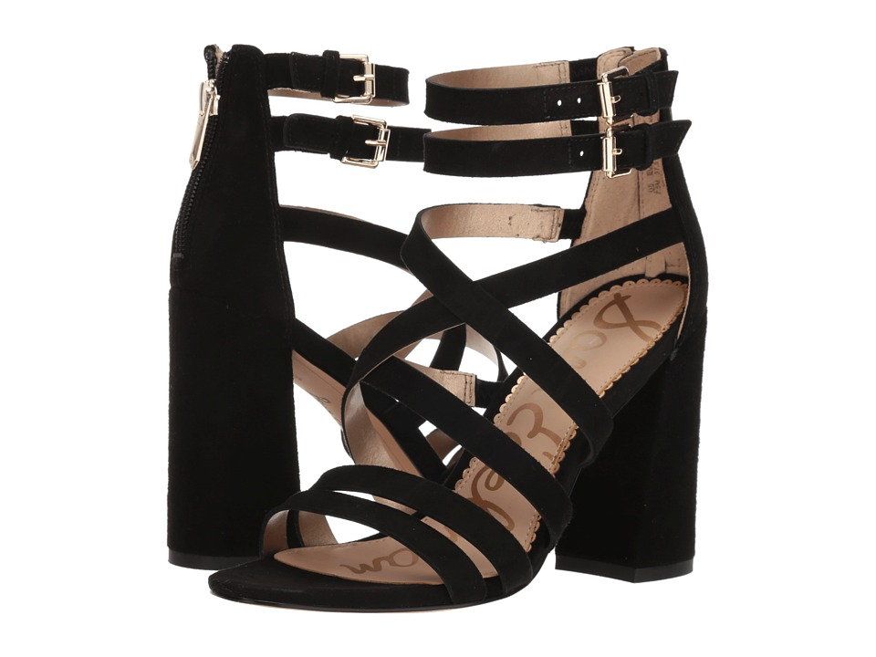 Sam Edelman Yema (Black Kid Suede Leather) Sandals