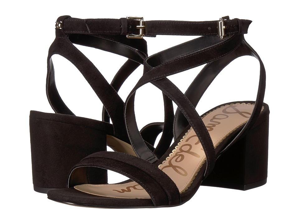 Sam Edelman Sammy (Black Kid Suede Leather) Sandals