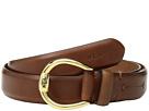 LAUREN Ralph Lauren 1 Bennington Equestrian Belt on Smooth Strap