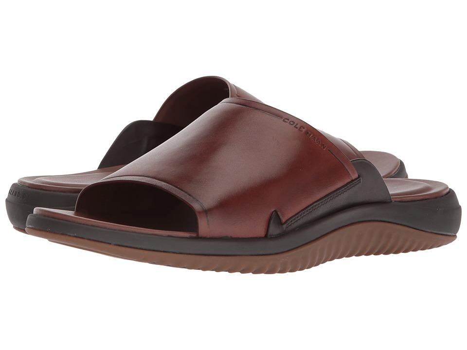 Cole Haan 2.Zerogrand Slide Sandal (Woodbury Leather/Dark Roast/Gum) Men