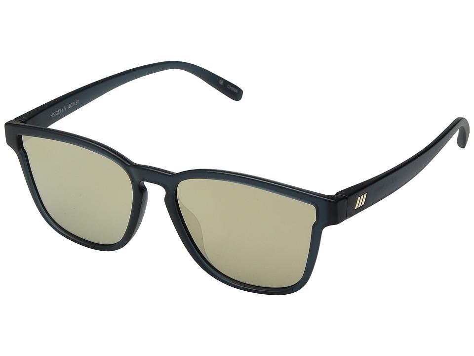 Le Specs History (Matte Midnight/Gold Revo) Fashion Sunglasses