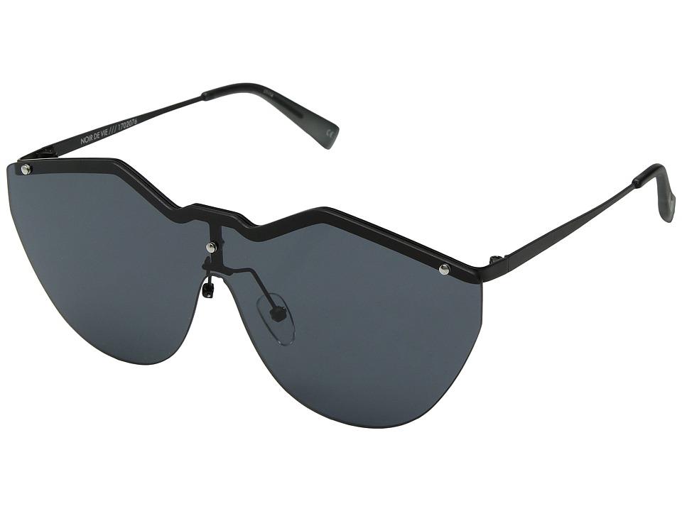Le Specs Noir De Vie (Matte Black/Smoke Mono) Fashion Sunglasses