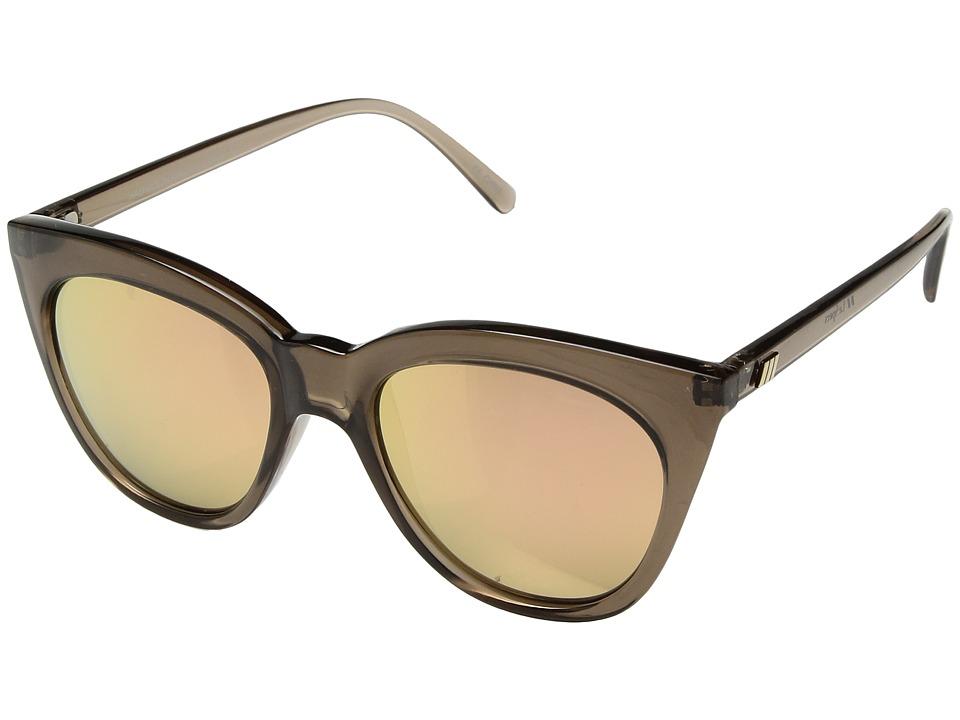 Le Specs Halfmoon Magic (Mocha/Brass Revo Mirror) Fashion Sunglasses