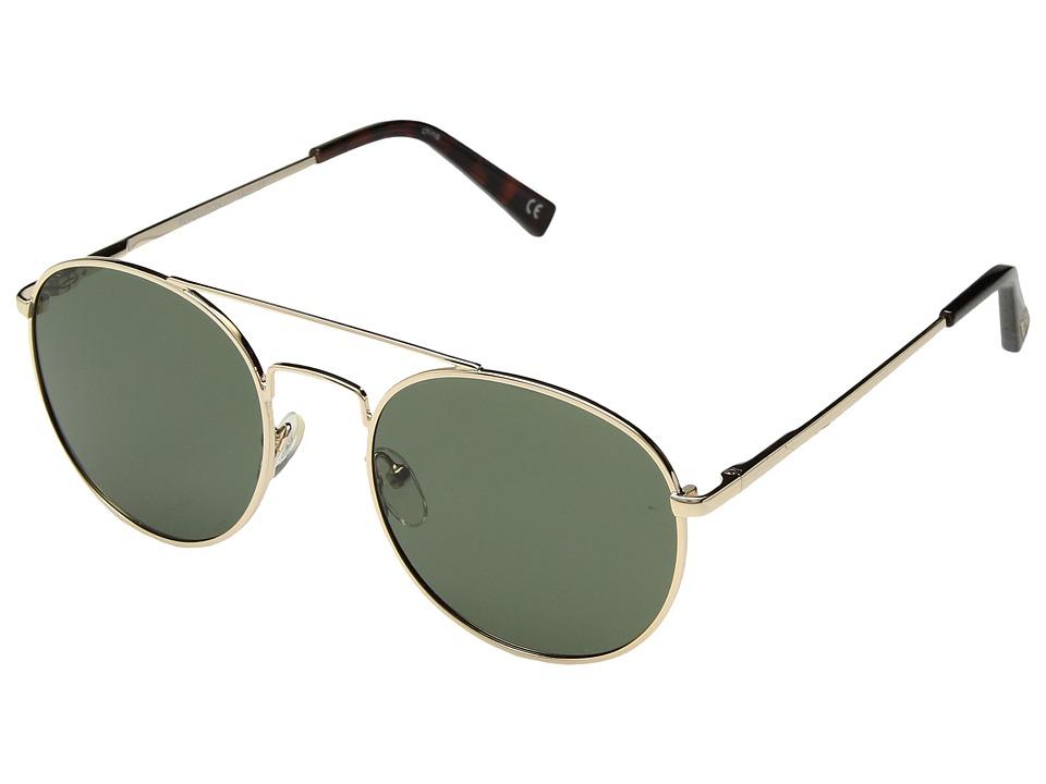 Le Specs Revolution (Gold/Khaki Mono Ploarized) Fashion Sunglasses